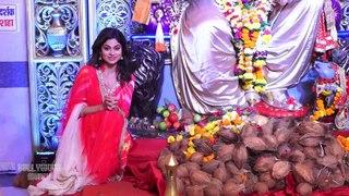 Shamita Shetty Visits Andheri Cha Raja For Ganpati Darshan