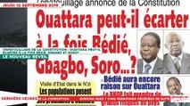 Le Titrologue du 12 Septembre 2019 : Tripatouillage de la constitution, Ouattara peut-il écarter à la fois Bédié, Gbagbo et Soro ?