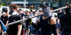 Los manifestantes hongkoneses se radicalizan y  preparan proyectiles para atacar violentamente a la Policía