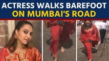 Swara Bhasker loses her footwear, walks barefoot: Video goes viral | Oneindia News