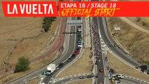 Départ officiel / Official start - Étape 18 / Stage 18 | La Vuelta 19