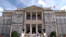 Dolmabahçe Sarayı'ndaki en büyük Altın Varak tablo çerçevesi restorasyonda