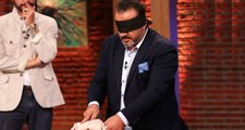 Şef Mehmet Yalçınkaya'nın gözü kapalı yaptığı tavuk şovu taklit çıktı