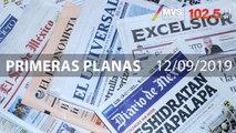 Primeras Planas jueves 12/09/2019