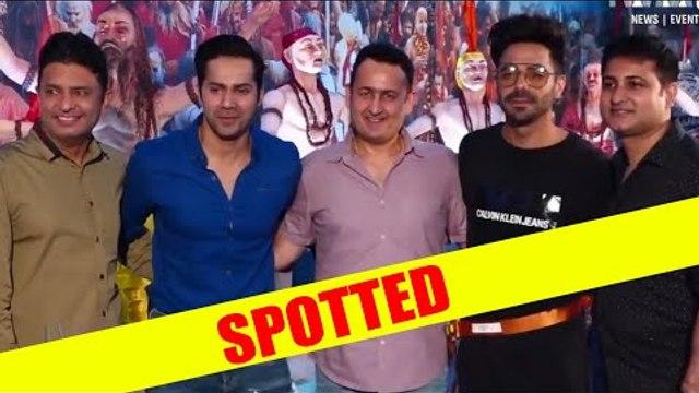 Varun Dhawan, Karthik Aryan and Emraan Hashmi visits T-series' Bappa Pandal