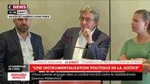 """Jean-Luc Mélenchon assure que son procès qui aura lieu la semaine prochaine était une """"instrumentalisation politique de la justice"""" - VIDEO"""