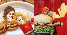 Manger tout en s'amusant c'est possible, et cet artiste le prouve en créant des mises en scène étonnantes avec son assiette !