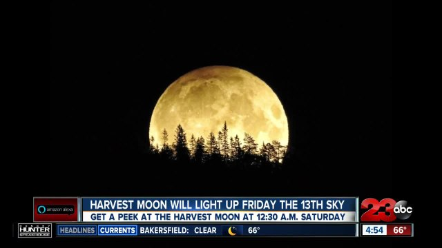 Harvest moon will light up Friday the 13th sky