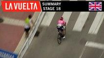 Summary - Stage 18   La Vuelta 19