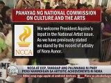 PNOY, Inaming ang drug case ang dahilan kung bakit nalaglag si Nora sa listahan ng mga gagawarang National Artists