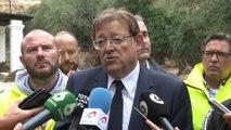 Puig anuncia que ayudará a los vecinos desalojados de Ontinyent