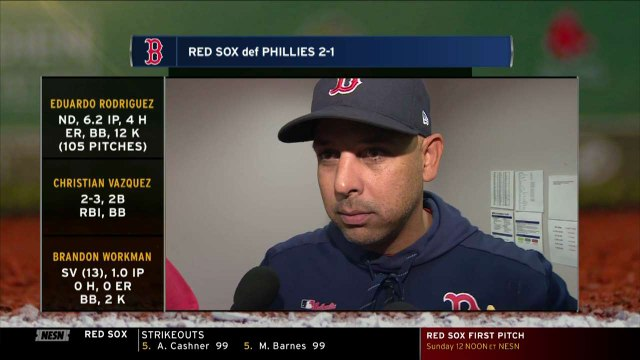Alex Cora Has Advice For Christian Vazquez As He chases 20th Home Run