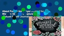 About For Books  Prayer Journal for Women: 52 Week Scripture, Devotional   Guided Prayer Journal