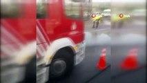 TEM otoyolunda oksijen yüklü tanker devrildi: TEM trafiğe kapanı