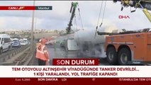 TEM Altınşehir viyadüğünde kaza
