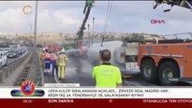 TEM otoyolu Altınşehir viyadüğünde tanker devrildi...