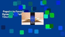 Popular to Favorit  Dynamics of Faith by Paul Tillich