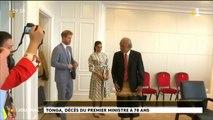 Décès du 1er ministre de Tonga