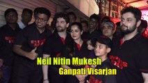 Neil Nitin Mukesh's CRAZY Dance On Nasik Dhol In Ganpati Visarjan Wid Wife Rukmini & Daughter Nurvi