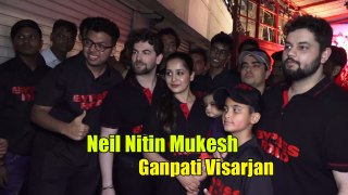 Saaho Neil Nitin Mukesh EMOTIONAL during GANPATI VISARJAN | Too Adorable Moment|