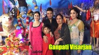 Bhushan Kumar Wid Wife Divya Kumar & Both SIsters ZABARDAST Dancing & Dhamal @Ganpati Visarjan