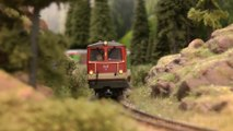The Magic of Backdrops for Model Railroad Layouts and Backscenes for Model Railways: Narrow-gauge Railway in Salzburg in Austria - Pilentum Television - The World of Model Trains and Model Railroading and Scale Modeling