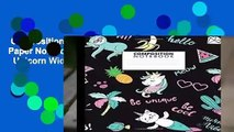 Composition Notebook  Nifty Wide Ruled Paper Notebook Journal ,  Cute Tropical Cat   Unicorn Wide