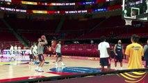 استعدادات المنتخب الفرنسي للمباراة نصف النهائية في مونديال كرة السلة