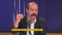 """Réforme des retraites : """"Rien ne justifie qu'on travaille plus longtemps"""", déclare Philippe Martinez, secrétaire général de la CGT"""