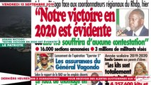 Le Titrologue du 13 Septembre 2019 -Adama Bictogo, «Notre victoire en 2020 est évidente»