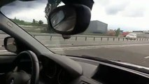 Se fair doubler par une F1 sur l'autoroute (République tchèque)