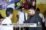 """Penal Sarita Colonia: Jerry Rivera conoció a protagonistas de videoclip """"Mi Libertad"""""""