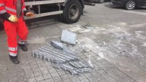 Molenbeek : la stèle à Loubna Lafquiri détruite par un vehicule (vidéo Germani)