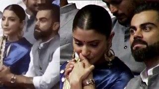 Anushka Sharma kisses Virat Kohli at Feroz Shah Kotla | FilmiBeat
