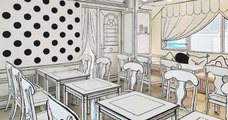 Découvrez un café insolite aux décors 2D surprenants