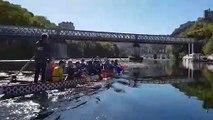 """La journée d'intégration des apprentis des CFAI sur les """"dragon boat"""" de la société nautique bisontine"""