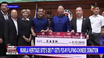 Manila heritage site's dev't gets P20-M Filipino-Chinese donation