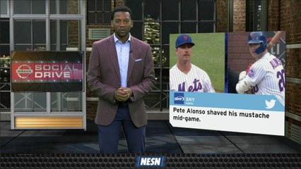 NISSAN Social Drive: Pete Alonso Shaves His Mustache Mid-Game