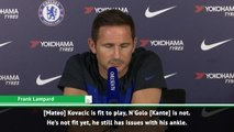 Lampard provides Kante injury update