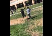 Un Marine met fin à une bagarre entre lycéens... à sa manière !