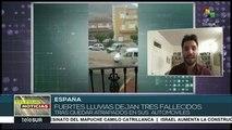 Al menos tres personas fallecen tras fuertes lluvias en España