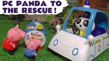 Peppa Pig Surprise Eggs Hide and Seek with Disney Pixar Cars and the Funny Funlings with Pepa PC Panda rescue in this Full Episode English