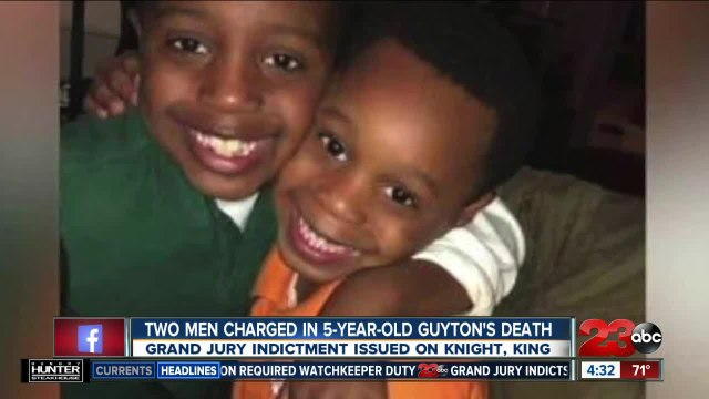 Two men charged in 5-year-old Kason Guyton's death