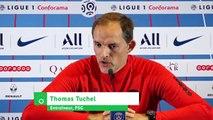 """Football - L'entraineur du PSG, Tuchel : """"Neymar JR est prêt pour jouer contre Strasbourg, les choses sont claires"""""""