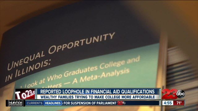 Reported loophole in financial aid qualifications