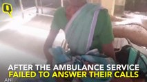 Woman Gives Birth on Makeshift Stretcher, Men Call it 'Ambulance'