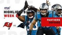 Panthers Defense Racks Up 2 Sacks, Holds Winston to 208 YDs - NFL 2019 Highlights
