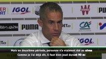 "5e j. - Sylvinho : ""Dembélé a été bon, en première mi-temps"""