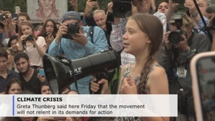"""""""We will continue,"""" Greta Thunberg vows in front of White House"""