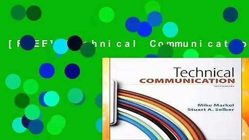 [FREE] Technical Communication